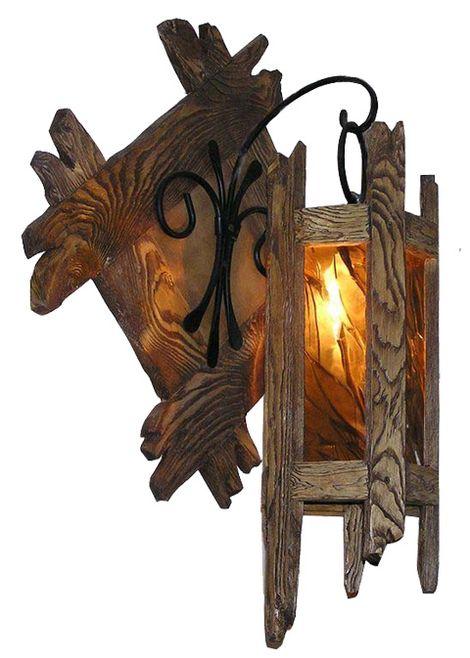 Бра светильник из дерева своими руками